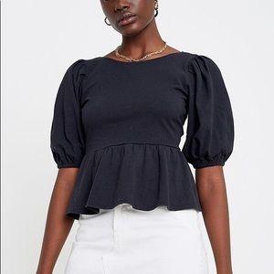 Urban Outfitters Rosaleen Tie-Back Peplum Top